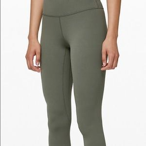 lululemon athletica Pants - Lululemon night waisted green leggings